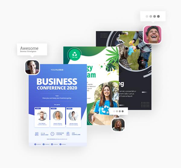Business Flyer Card Designs Attention Grabbing Designs